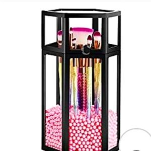PINK & BLACK COSMETIC STORAGE CONTAINER